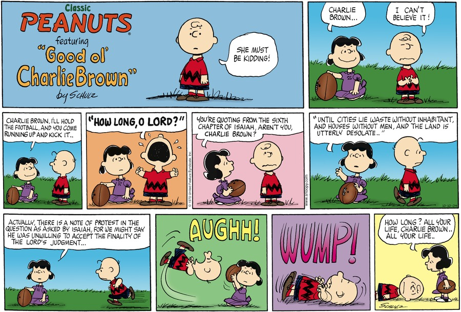 Peanuts Comic Strip for October 10, 2004