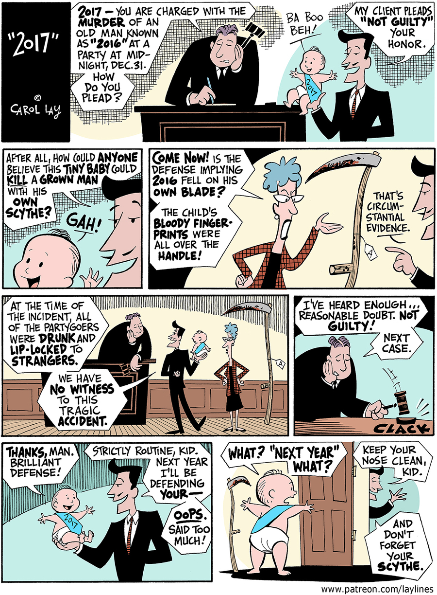 Lay Lines Comic Strip for December 30, 2016