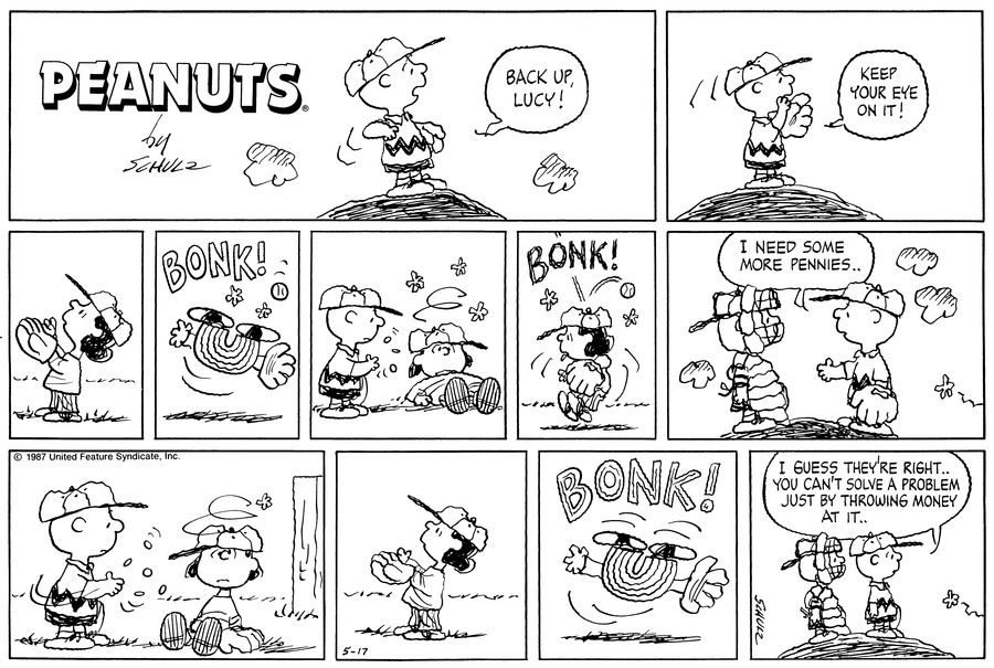 Peanuts Comic Strip for May 17, 1987
