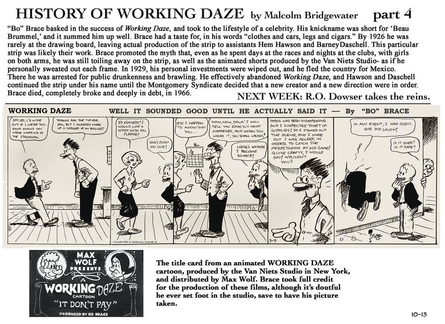 Working Daze Comic Strip for October 13, 2013