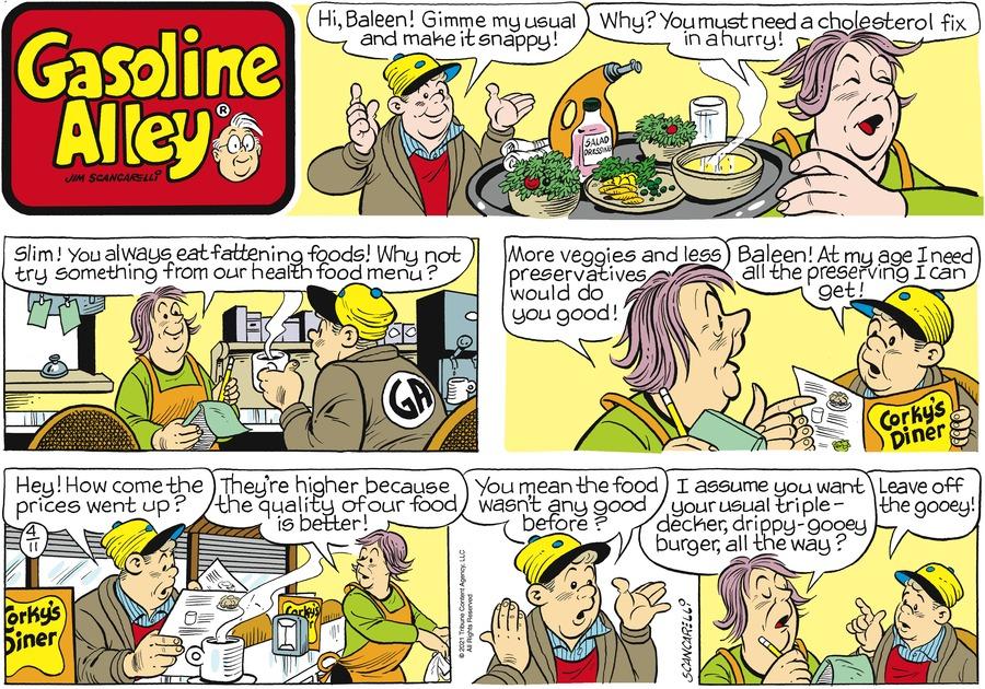 Gasoline Alley Comic Strip for April 11, 2021