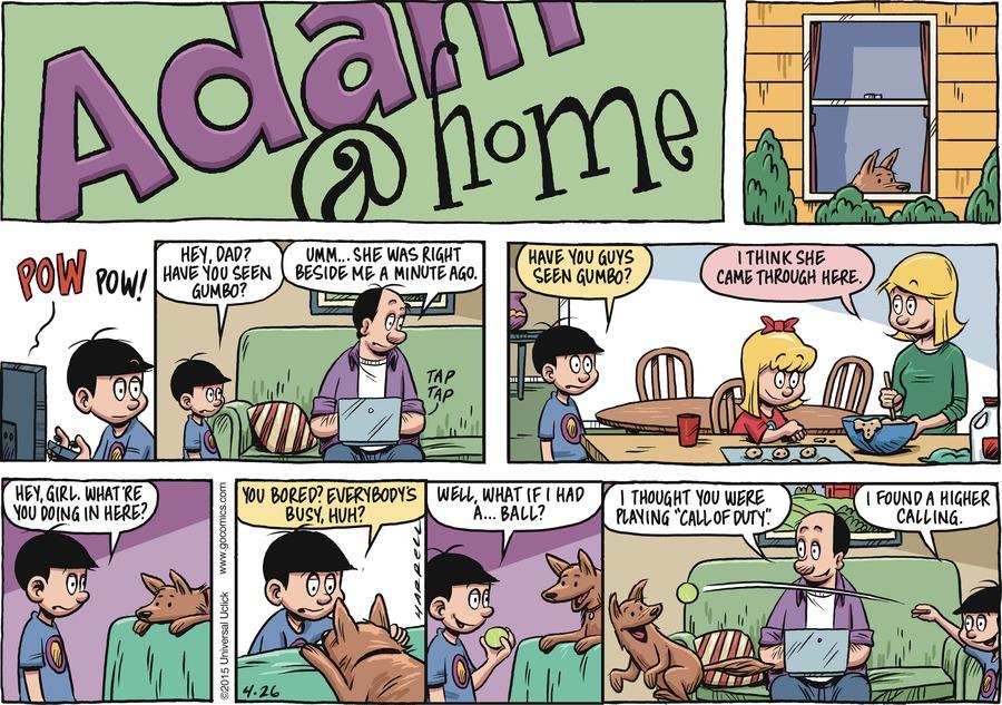 Adam@Home Comic Strip for April 26, 2015