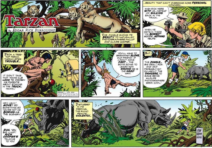 Tarzan Comic Strip for March 29, 2020
