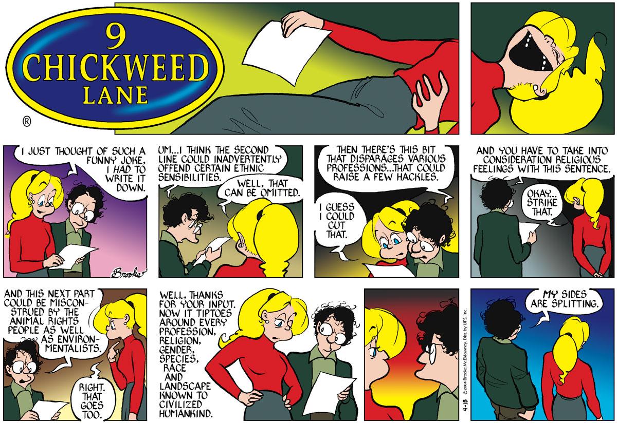 9 Chickweed Lane Comic Strip for April 18, 2004