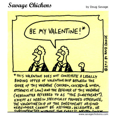 Savage Chickens Comic Strip for February 13, 2015