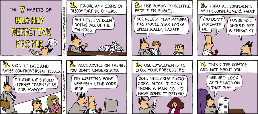 Dilbert Classics Comic Strip for April 07, 2019