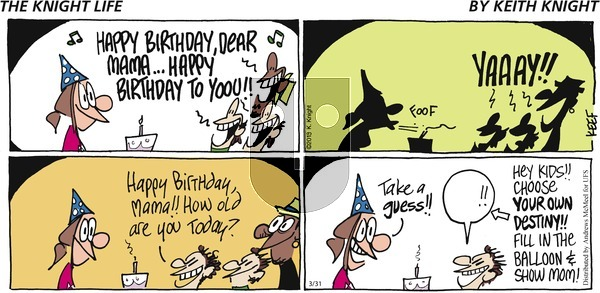 The Knight Life on Sunday March 31, 2019 Comic Strip