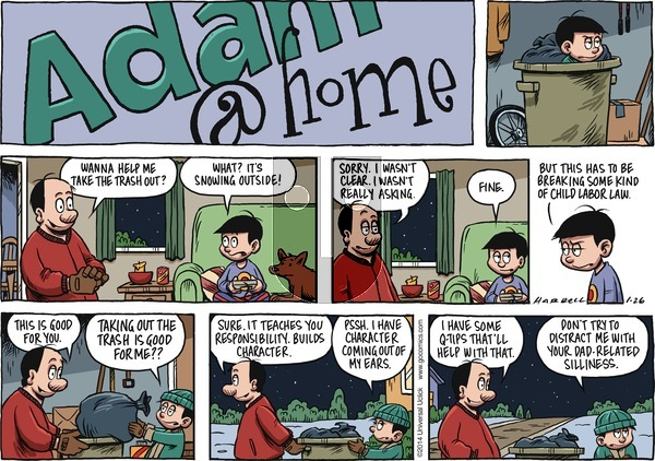 Adam@Home on Sunday January 26, 2014 Comic Strip