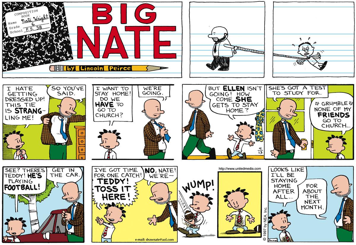 Big Nate Comic Strip for April 13, 1997