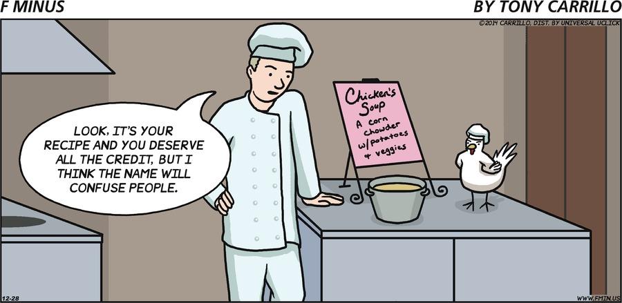 F Minus Comic Strip for December 28, 2014