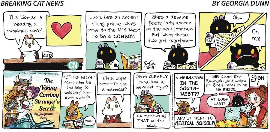 Breaking Cat News Comic Strip for June 14, 2020