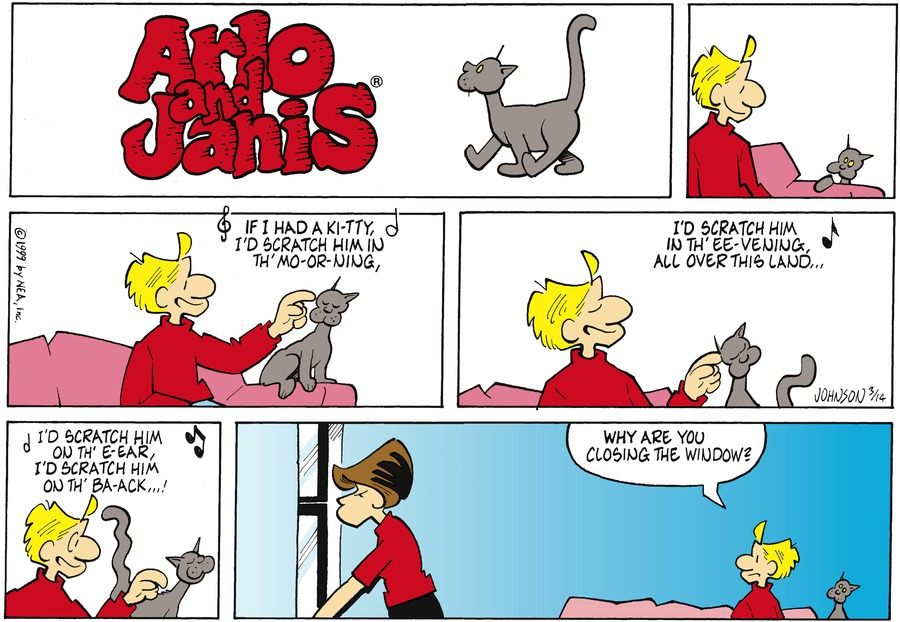 Arlo and Janis Comic Strip for March 14, 1999