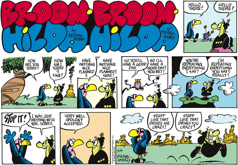 Broom Hilda by Russell Myers for March 10, 2019