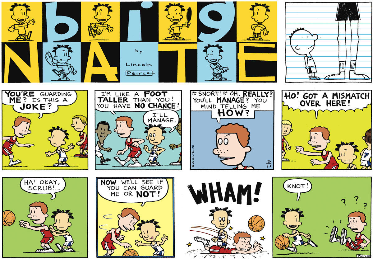 Big Nate Comic Strip for March 13, 2011