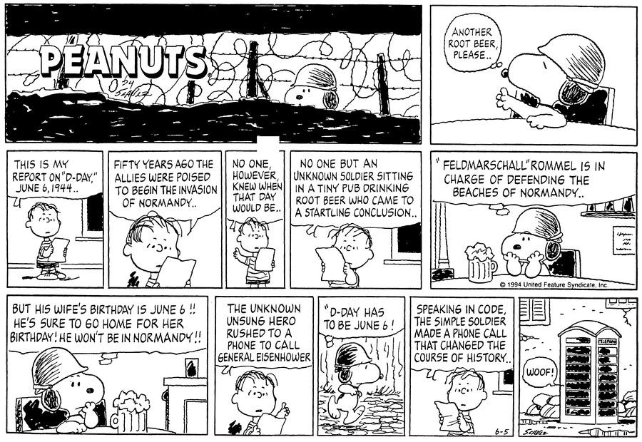 Peanuts Comic Strip for June 05, 1994