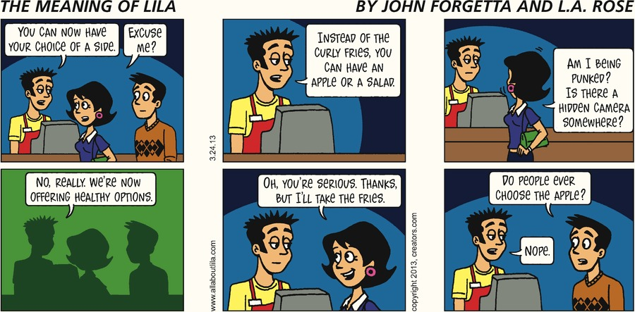 The Meaning of Lila for Mar 24, 2013 Comic Strip