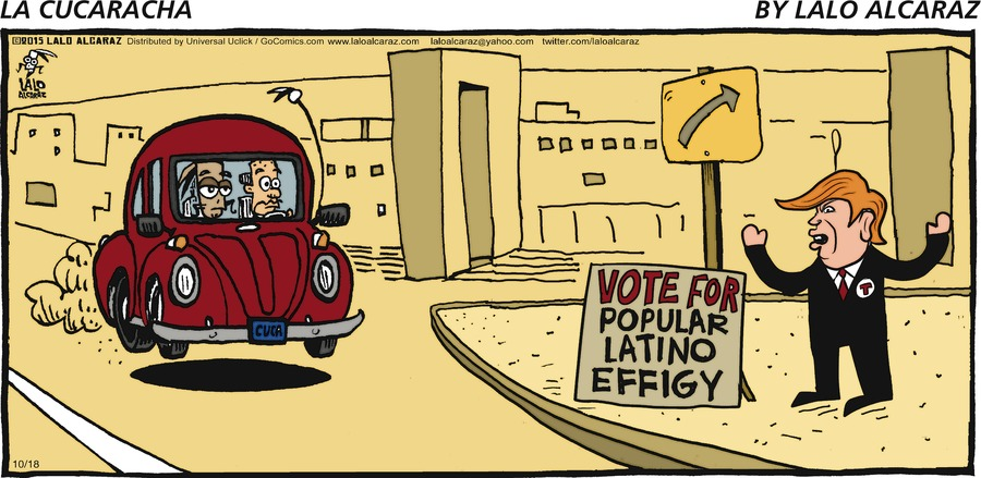 La Cucaracha for Oct 18, 2015 Comic Strip