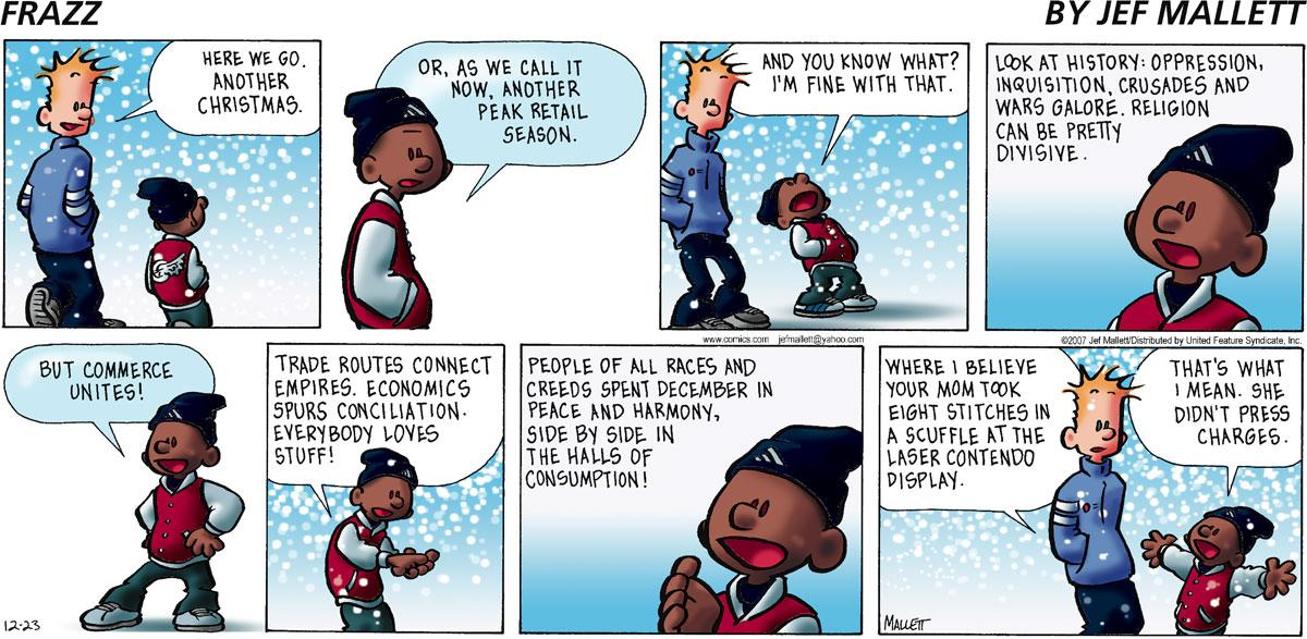 Frazz for Dec 23, 2007 Comic Strip