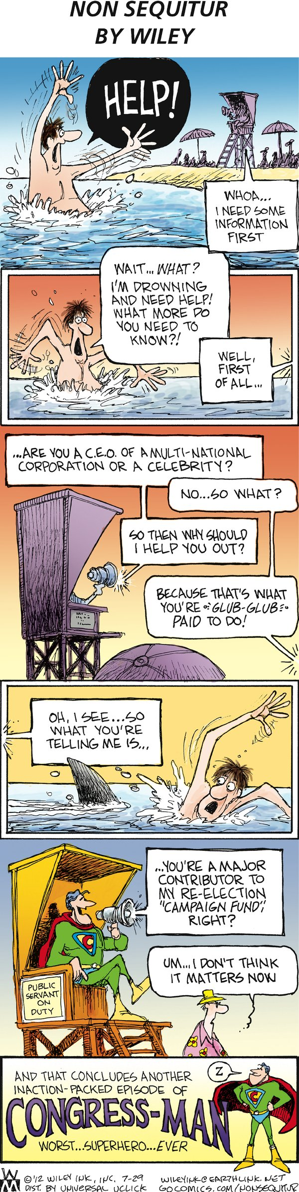 Non Sequitur Comic Strip for July 29, 2012