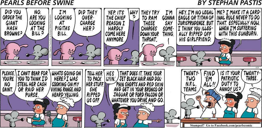 Pearls Before Swine Comic Strip for April 16, 2017