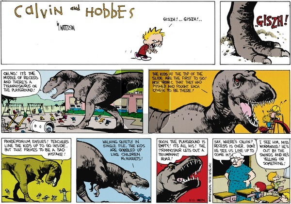 Calvin and Hobbes on Sunday October 1, 1989 Comic Strip