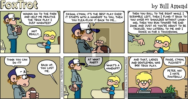FoxTrot - Sunday October 18, 2020 Comic Strip