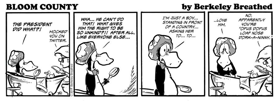 Bloom County 2019 by Berkeley Breathed for July 31, 2019