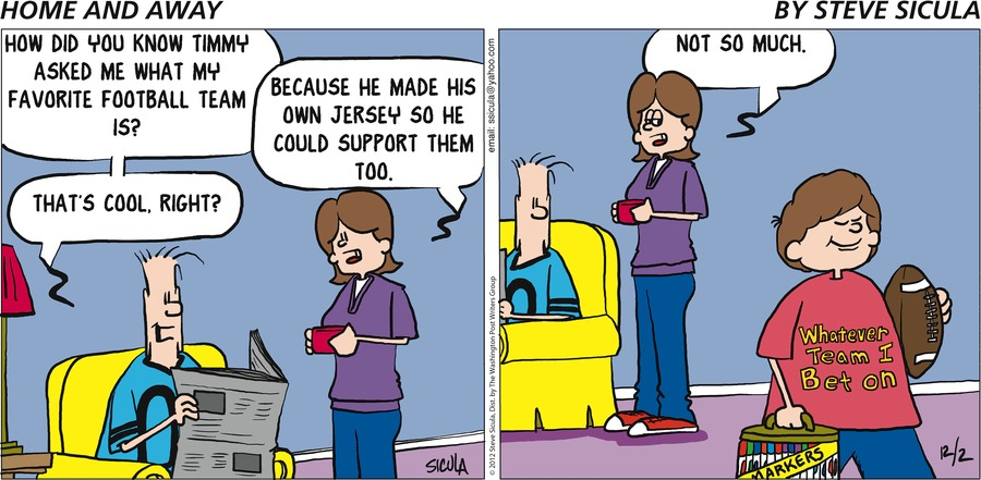 Home and Away for Dec 2, 2012 Comic Strip
