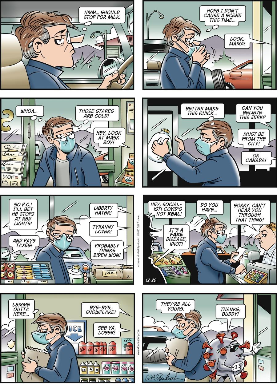 Doonesbury Comic Strip for December 20, 2020