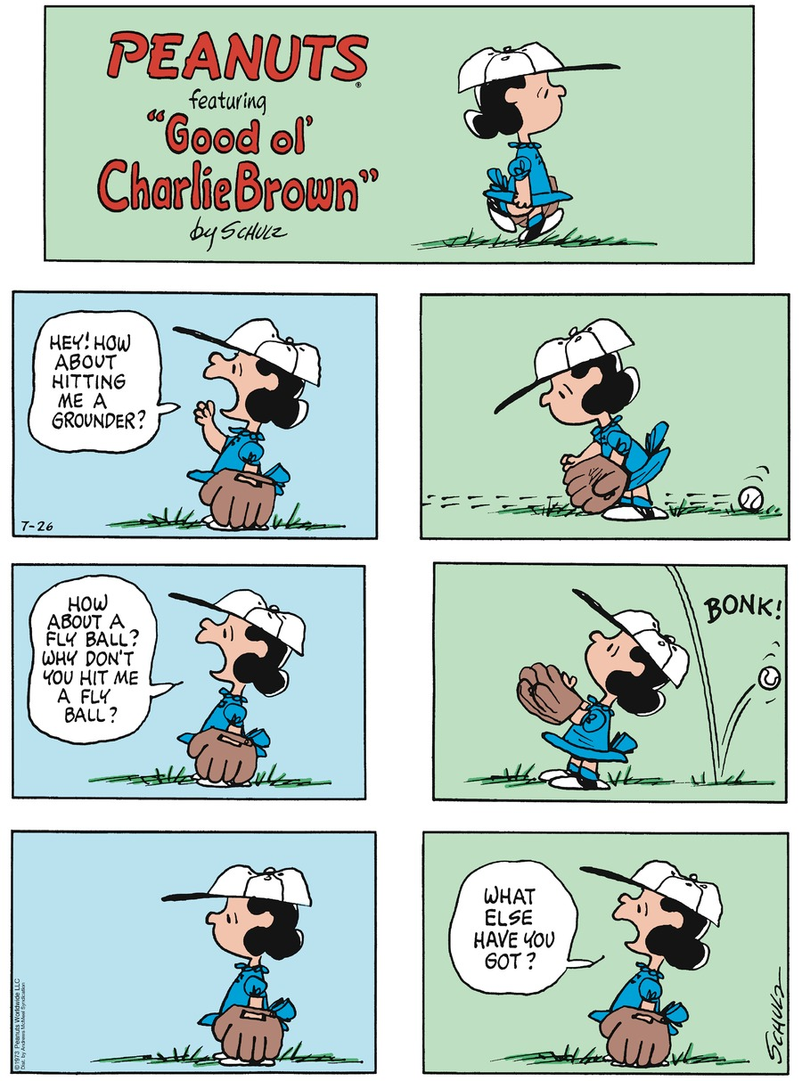 Peanuts by Charles Schulz on Sun, 26 Jul 2020