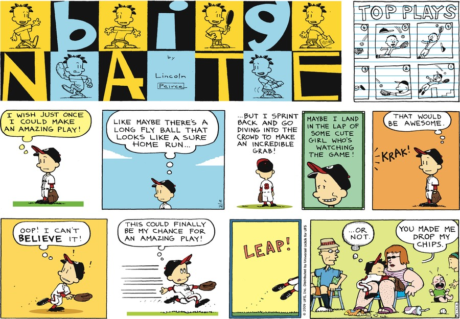 Big Nate Comic Strip for April 14, 2013
