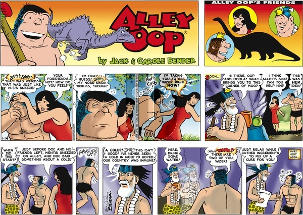 Alley Oop on Sunday January 14, 2018 Comic Strip