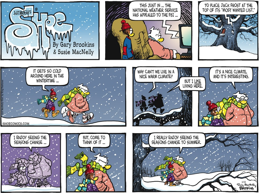 Shoe Comic Strip for February 22, 2015