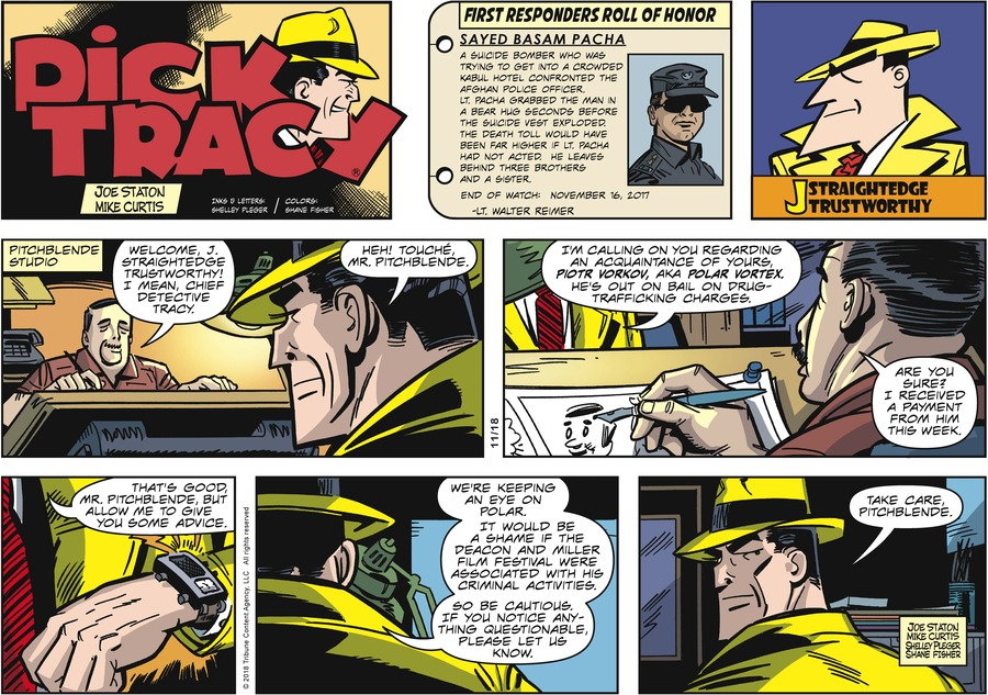 Dick Tracy Comic Strip for November 18, 2018