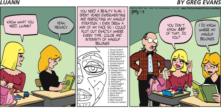 "Tiffany: ""Know what you need, Luann?""