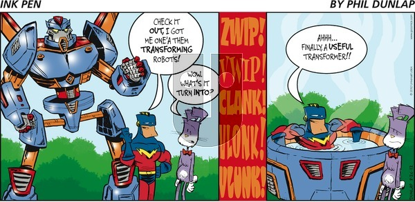 Ink Pen on Sunday August 26, 2012 Comic Strip