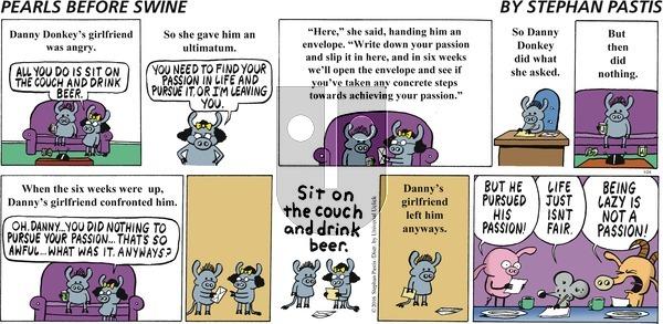 Pearls Before Swine on Sunday January 24, 2016 Comic Strip