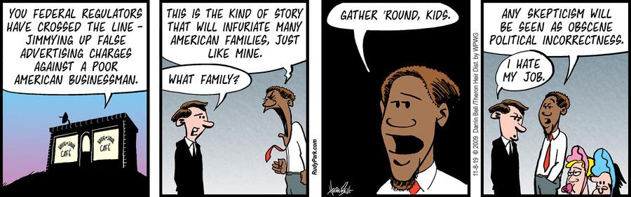Rudy Park Comic Strip for November 08, 2019