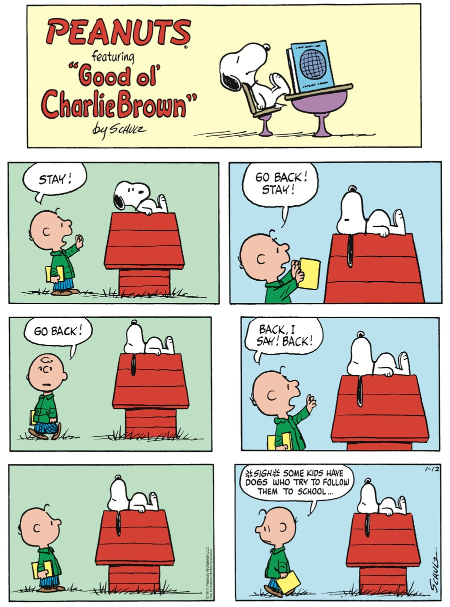 Peanuts by Charles Schulz on Sun, 12 Jan 2020