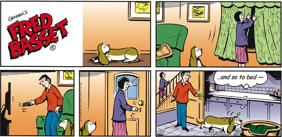 Fred Basset Comic Strip for May 24, 2015