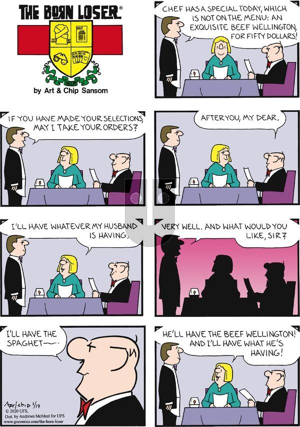 The Born Loser - Sunday January 19, 2020 Comic Strip