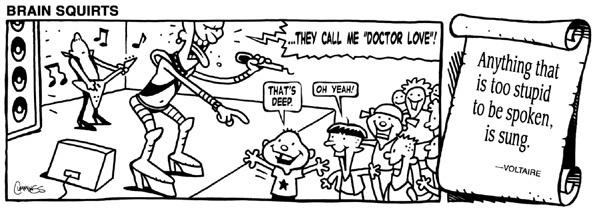 Brain Squirts Comic Strip for November 27, 2014
