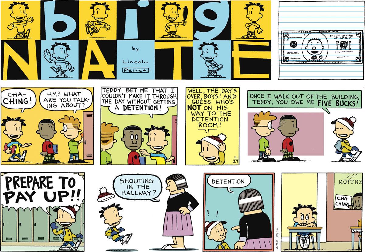 Big Nate Comic Strip for February 27, 2011