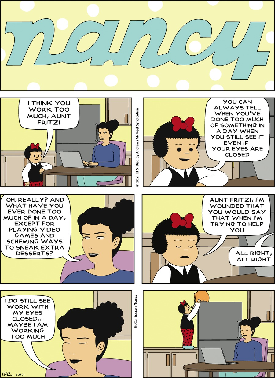Nancy Comic Strip for February 28, 2021