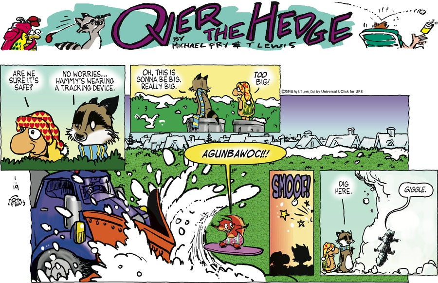 Over the Hedge Comic Strip for January 19, 2014