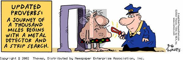 Frank and Ernest on Wednesday March 6, 2002 Comic Strip