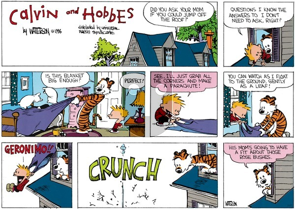 Calvin and Hobbes - Sunday March 27, 2016 Comic Strip