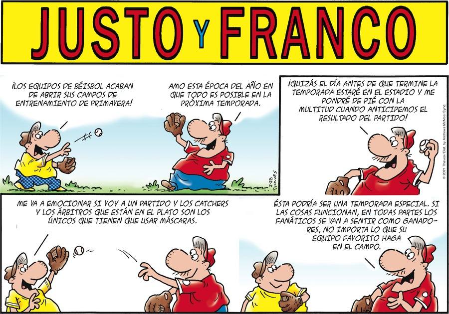 Justo y Franco Comic Strip for February 28, 2021