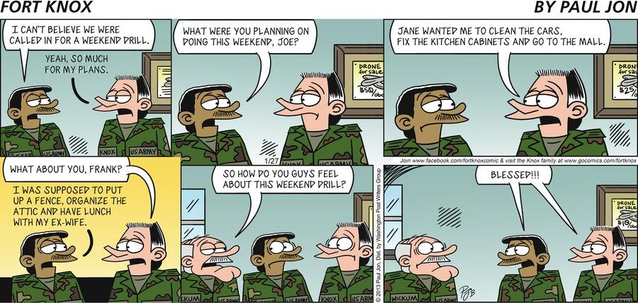 Fort Knox for Jan 27, 2013 Comic Strip