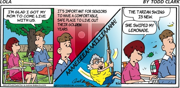 Lola on Sunday August 26, 2018 Comic Strip